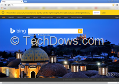Chrome New Tab Page with Bing
