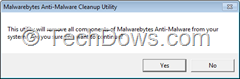 Malwarebytes Anti-Malware Cleanup utility screenshot 1