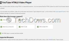 Youtube Default HTML5  Player