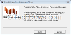 Adobe Shockwave Player Uninstaller