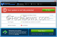 Malwarebytes system is not fully protected error