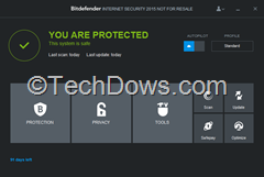 Bitdefender Internet Security 2015 UI