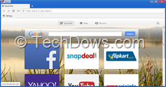 Google Search box Speed Dial Opera 23