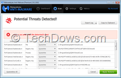 Radsteroids files detected by Malwarebytes