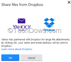 linking Yahoo Mail and Dropbox accounts