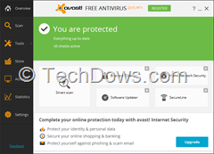 Avast Free antivirus 2015 beta UI