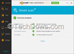 Avast Smart Scan results