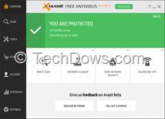 Avast Free antivirus 2015 beta 2 UI