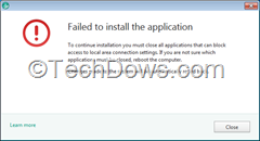 Kaspersky Failed to install the application