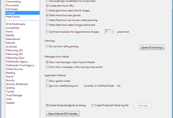 How to Turn off/disable Protected Mode in Adobe Reader X