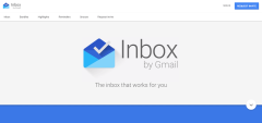 Inbox by Gmail homepage