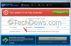 Malwarebytes Malicious website protection disabeld error