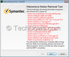 Norton Removal Tool for Norton Security 2015