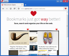 Opera 25 visual bookmarks