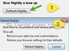 Refresh Firefox button and dialog