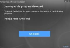 incompatible program detected Panda Free Antivirus