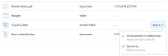 Dropbox Web share button