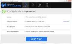 Malwarebytes 2.1 mockup dashboard