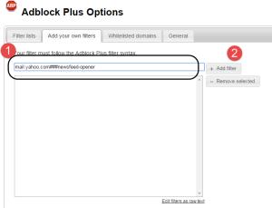 Adblock plus add filter