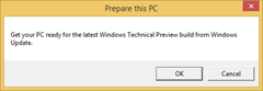 Prepare This PC for Windows Technical Preview