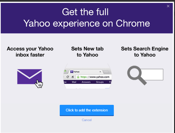 how to uninstall yahoo search from chrome