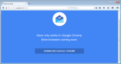 Inbox by Gmail only works in Chrome message in Firefox