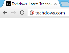 Warning icon in Chrome address bar for an HTTP website-min