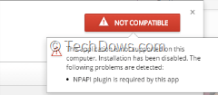 Chrome Web Store shows not compatible warning Windows 10