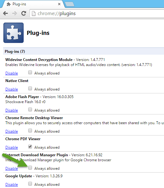Fix idm is not showing download this video panel in chrome select always allowed for idm plugin in chrome ccuart