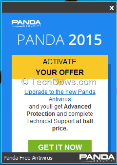How to disable Panda Free Antivirus's Upgrade Prompt Popups?