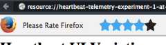 Heartbeat rating widget in Firefox
