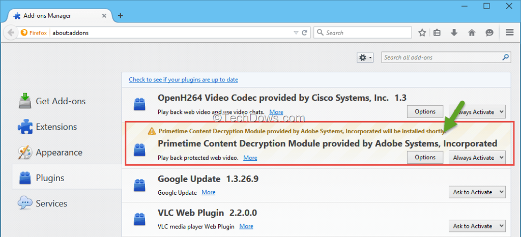 chrome widevine content decryption module download