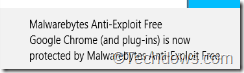 Malwarebytes Anti Exploit free notification