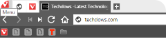 Vivaldi bookmark bar showing only icons of bookmarks