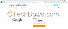 Adding Google Search Engine to Internet Explorer 11