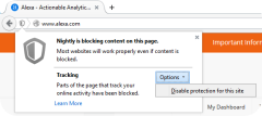 tracking protection shield dialog firefox