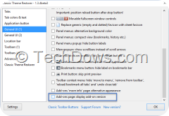 Classic Theme Restorer Settings
