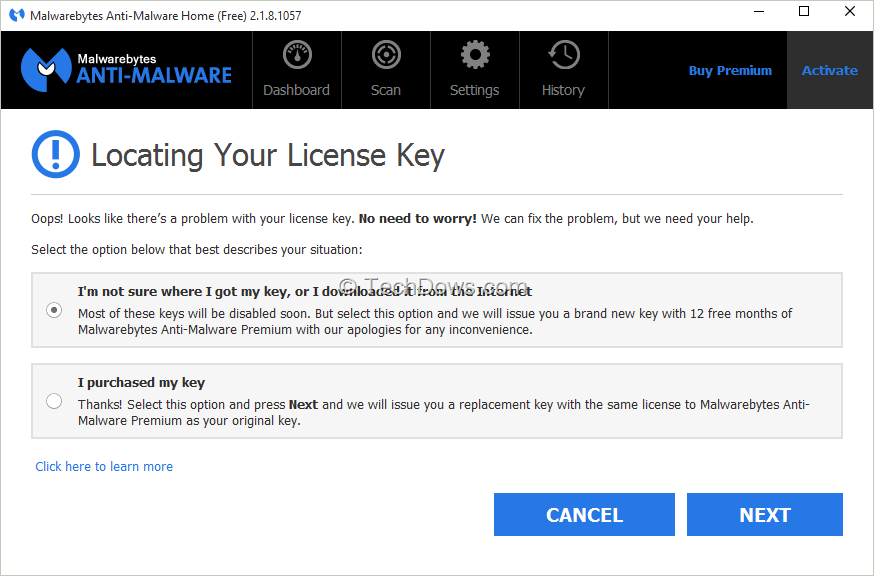 malwarebytes free version