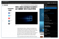 Microsoft edge branding in 10158 build with dark theme