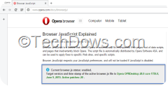 Opera current browser.js version