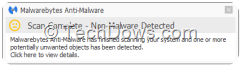 PUPs detected as non-malware in scan
