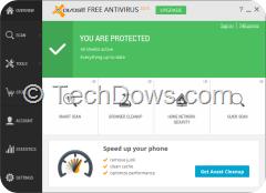 Avast Free Antivirus 2015 R3 UI