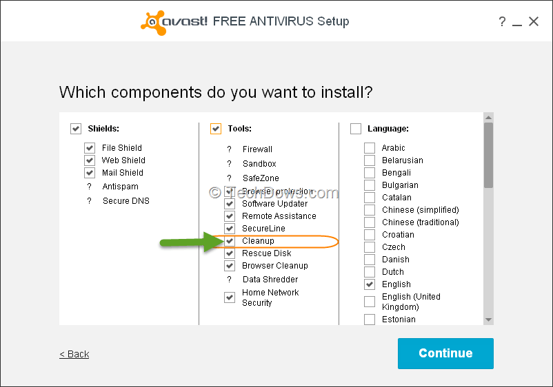 Avast components explained
