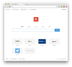Avira Browser UI