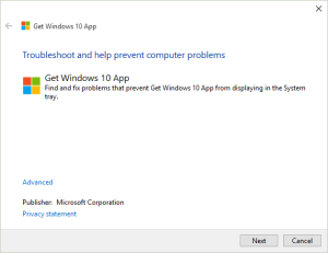 Get Windows 10 app troubleshooting tool