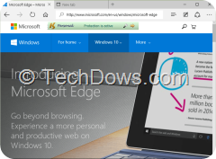 KeyScrambler Personal now supports Edge browser in Windows 10