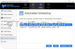 Malwarebytes Automated Scheduling