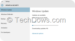 Windows Update downloading TH1 Professional 10240