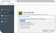 Firefox 41 Custom new Tab add-on