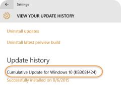 KB3081424 update